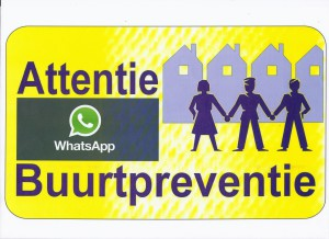 bordje Attentie Buurtpreventie WhatsApp